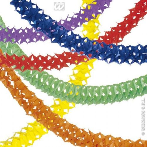Unicolour Paper Garlands 4M 6 Colours Party Decoration
